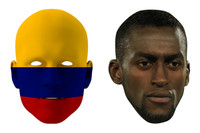 Colombia World Cup Face Mask Pack Jackson Martinez