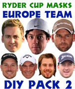 Ryder Cup Team Celebrity Face Masks Pack 2