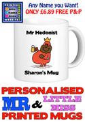 Mr Hedonist Man Personalised Mug Cup