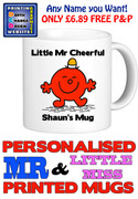 Mr Cheerful Man Personalised Mug Cup