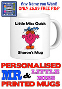 Little Miss Quick Personalised Mug Cup