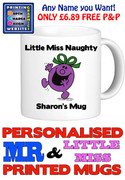 Little Miss Naughty Personalised Mug Cup