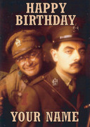 Personalised Blackadder Goes Forth Birthday Card