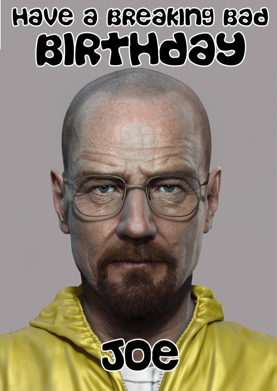 Breaking Bad Birthday Cards Breaking Bad Birthday Card