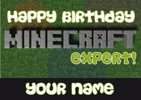 MineCrafting Theme Expert Birthday Card