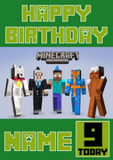 MineCrafting Theme Pro Birthday Card
