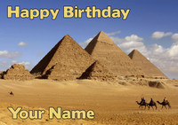 Pyramids Birthday Card