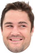 Brad Barrett England Rugby 2015 Celebrity Face Mask