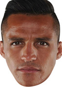 Alexis Sanchez FOOTBALL 2015 Celebrity Face Mask