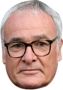 Claudio Ranieri Leicester Boss FOOTBALL 2015 Celebrity Face Mask