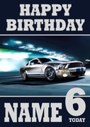 Personalised Ford Mustang 2 Birthday Card