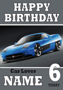 Personalised Mazda Rs Birthday Card