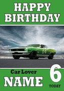 Personalised Car Lover 8 Birthday Card