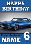 Personalised Chev Car Birthday Card