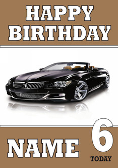 Personalised bmw birthday card celebrity facemasks image 1 bookmarktalkfo