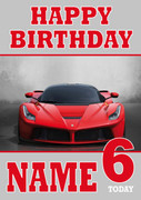 Personalised Ferrari Birthday Card