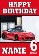 Personalised Ferrari 2 Birthday Card