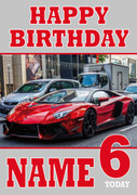 Personalised Lamborghini Reventon Birthday Card