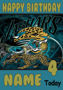 Personalised Jacksonville Jaguars Birthday Card 4