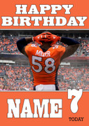 Personalised Denver Broncos Birthday Card 2