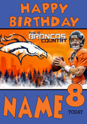 Personalised Denver Broncos Birthday Card 3