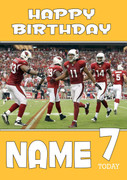 Personalised Arizona Cardinals Birthday Card 2