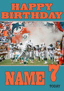 Personalised Miami Dolphins Birthday Card 3