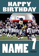 Personalised New England Patriots Birthday Card 2