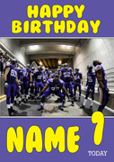 Personalised Minnesota Vikings Birthday Card