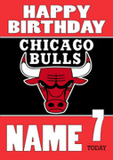 Personalised Chicago Bulls Birthday Card 3