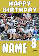 Personalised Hull FC Birthday Card