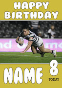 Personalised Hull FC Birthday Card 2