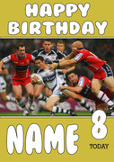 Personalised Hull FC Birthday Card 3