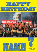 Personalised Leeds Rhinos Birthday Card