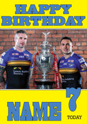 Personalised Leeds Rhinos Birthday Card 2