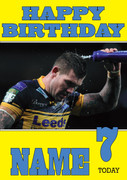 Personalised Leeds Rhinos Birthday Card 3