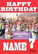 Personalised St. Helens Birthday Card