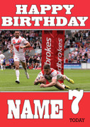 Personalised St. Helens Birthday Card 2