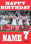 Personalised St. Helens Birthday Card 3