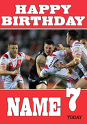 Personalised St. Helens Birthday Card 4