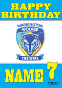 Personalised Warrington Wolves Birthday Card