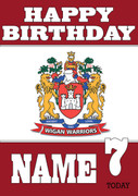 Personalised Wigan Warriors Birthday Card