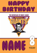 Personalised Huddersfield Giants Birthday Card