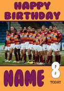 Personalised Huddersfield Giants Birthday Card 5