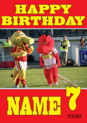 Personalised Catalan Dragons Birthday Card 2