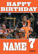 Personalised Castleford Tigers Birthday Card 3