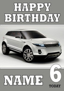Personalised Rangerover Birthday Card