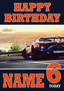 Personalised Pagani Zonda 2 Birthday Card