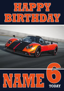Personalised Pagani Zonda Birthday Card