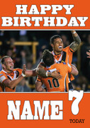 Castleford tigers 3 Birthday Card